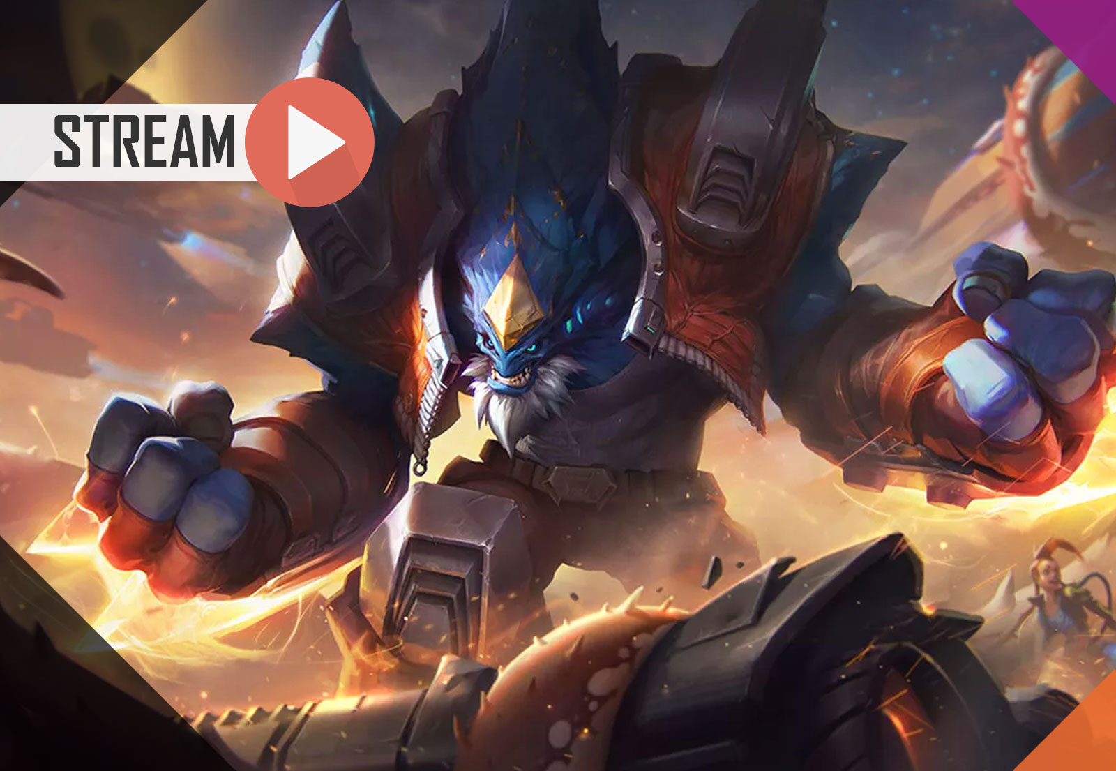 League of Legends (Duo) – Malphite e Garen x Riven e Zed